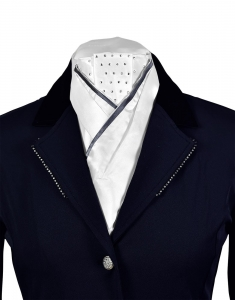 BUSSE Plastron FASHION white/navy